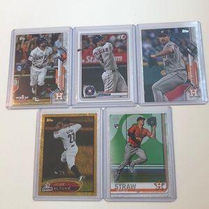 Lot of 5 Houston Astros Topps MLB Baseball Cards
